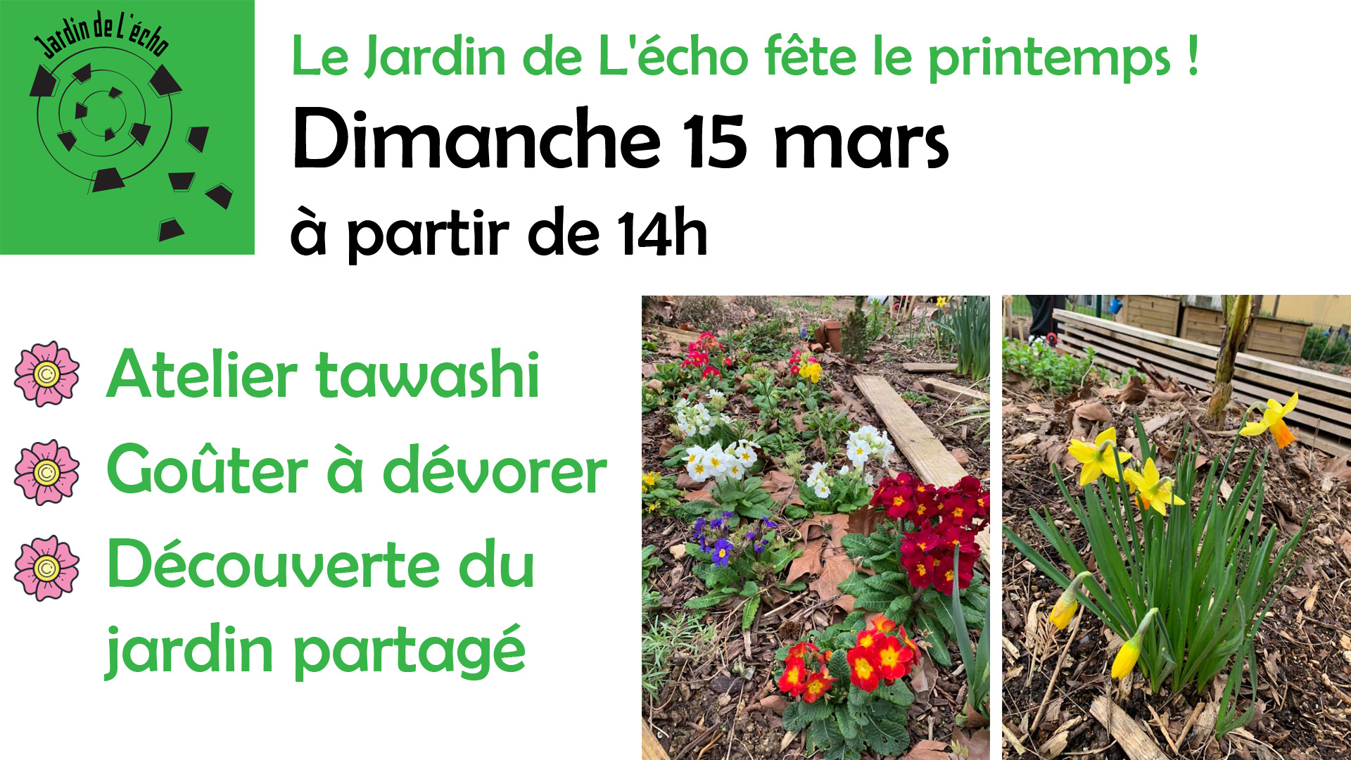 Le Jardin de L'écho fête le printemps !